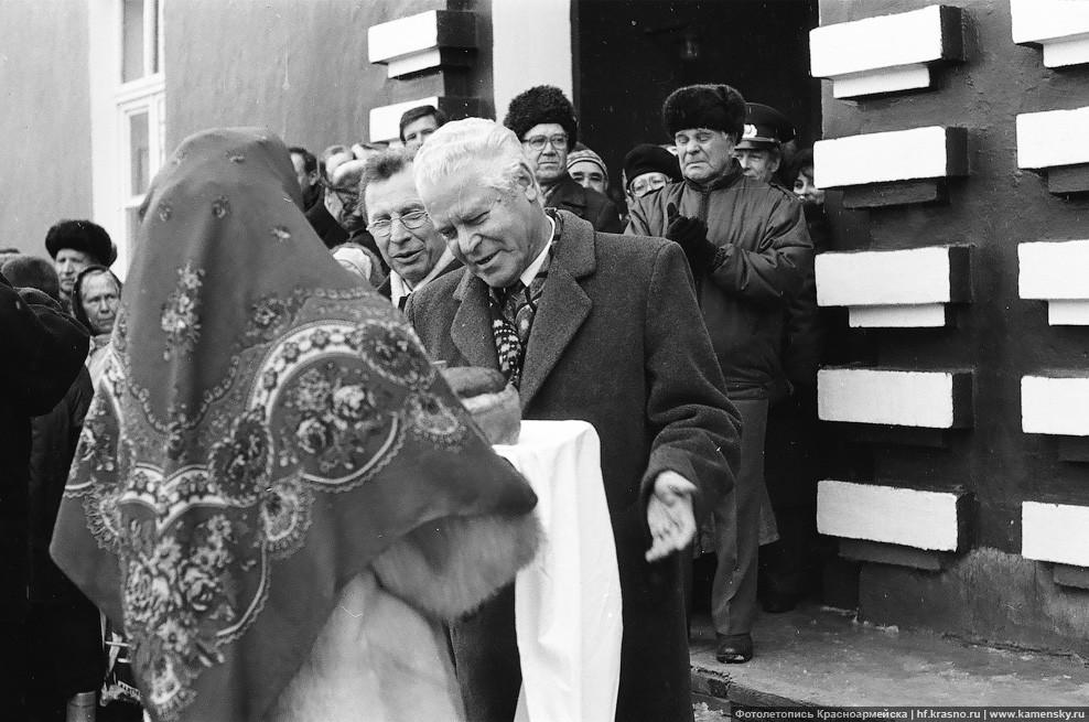 Открытие пассажирского движения Москва - Красноармейск, Паристый Иван