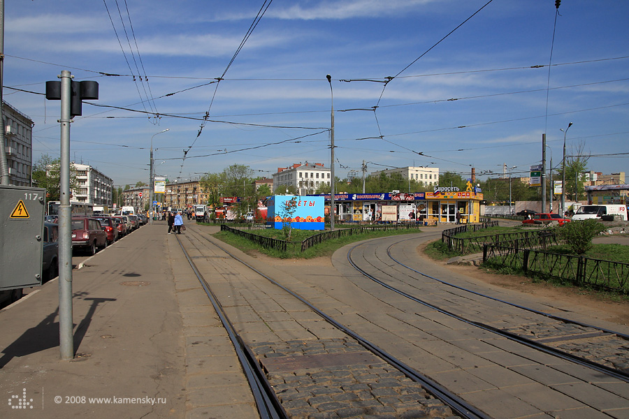 Трамвайное кольцо у метро Улица Подбельского