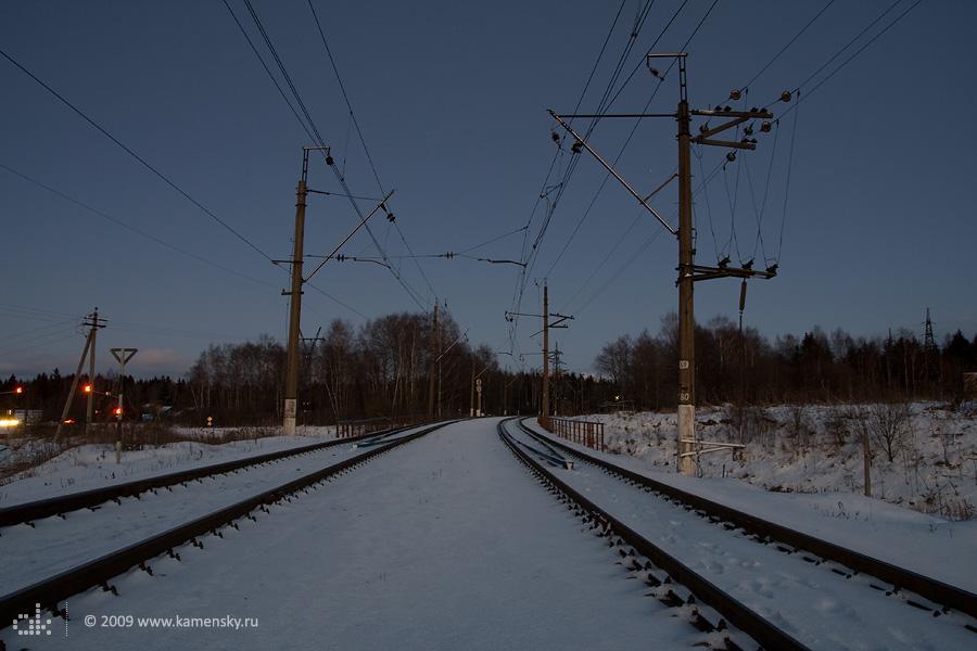 БМО, перегон Наугольная - 81 км, вид в сторону Ярославской дороги