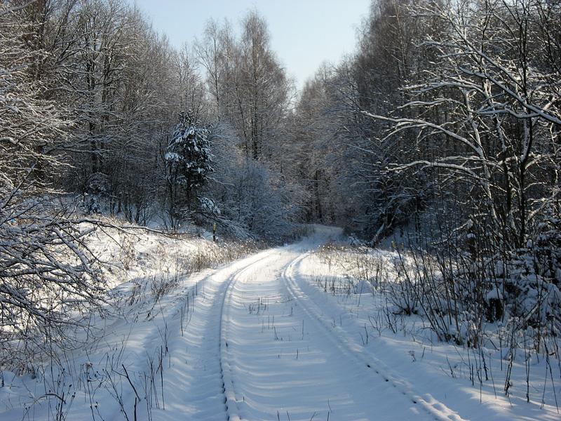 Зимние красоты, ведомственный (ЖД) железнодорожный путь у Сергиева Посада (ППЖТ)