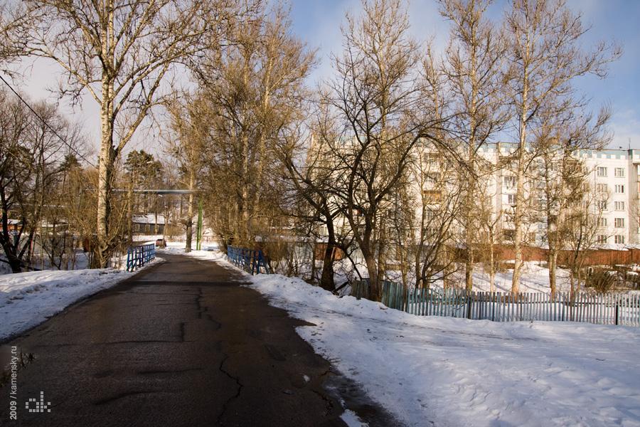 Московская область, весна, поселок Заречный, Загорский Опытный Завод Пластмасс, Сергиево-Посадский район