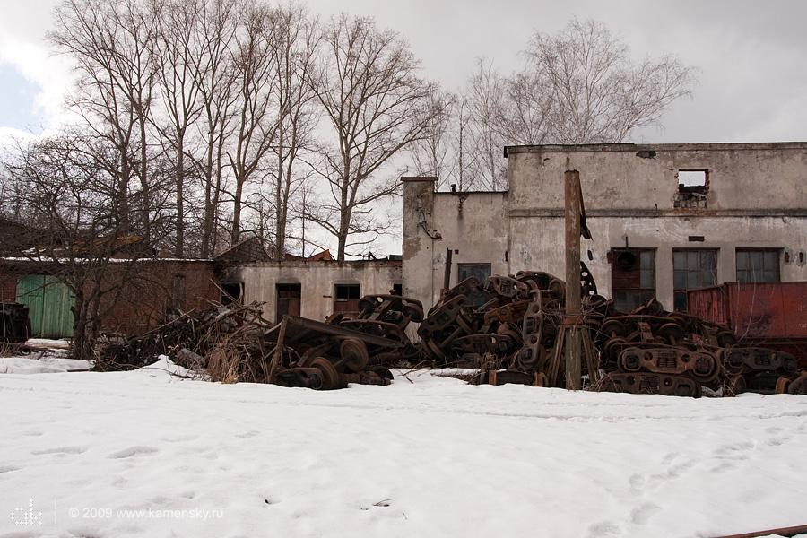 Закрытие Шатурских узкоколеек, депо в Бакшеево