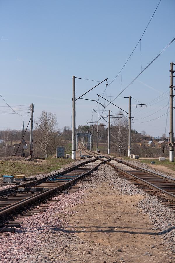 Московская область, Красноармейск, весна, железная дорога