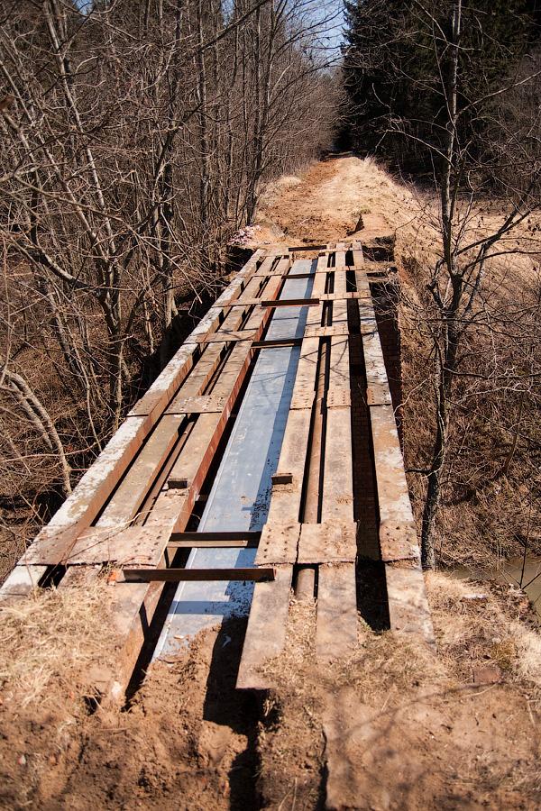Московская область, УЖД, Софрино, Григорково, старый мост