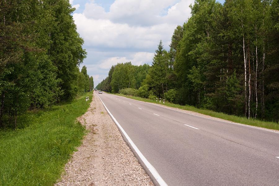 Дорога А108 (большая бетонка) в районе Киржача, Владимирская область