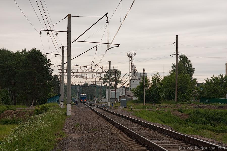 Станция Красноармейск, отправление поезда