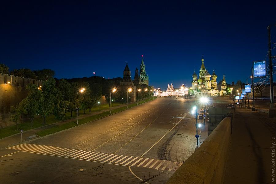 Вечерние фотографии Москвы. Васильевский спуск