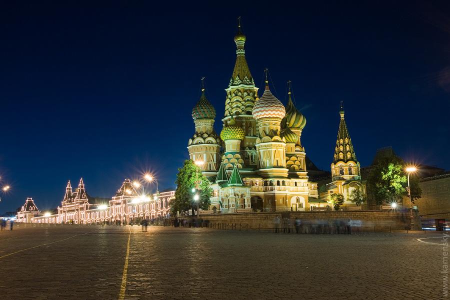 Вечерние фотографии Москвы. Храм Василия Блаженного