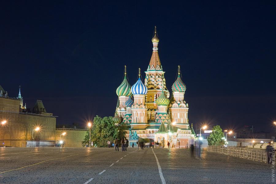 Вечерние фотографии Москвы. Собор Василия Блаженного