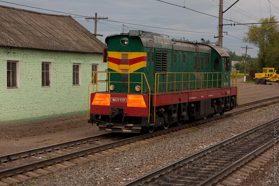 ЧМЭ3-1331, станция Ильинский погост, БМО