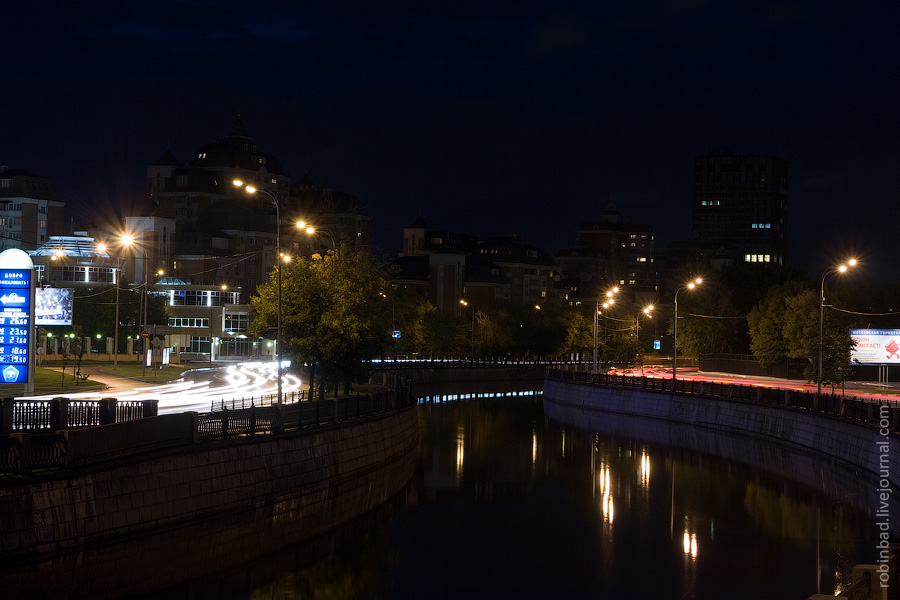 Ночное Лефортово, набережные Яузы