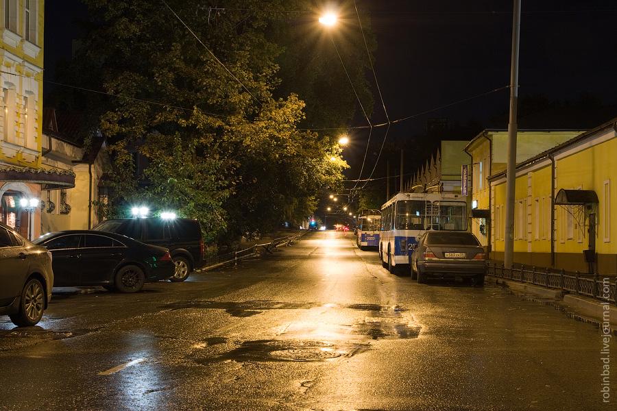 Ольховская улица, ночной отстой троллейбусов
