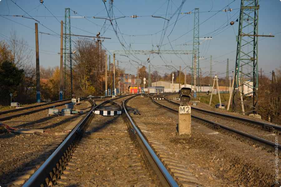 Хотьковское ППЖТ, ветка ЖД в Хотьково, малодеятельные линии, подъездные пути, осень на железной дороге
