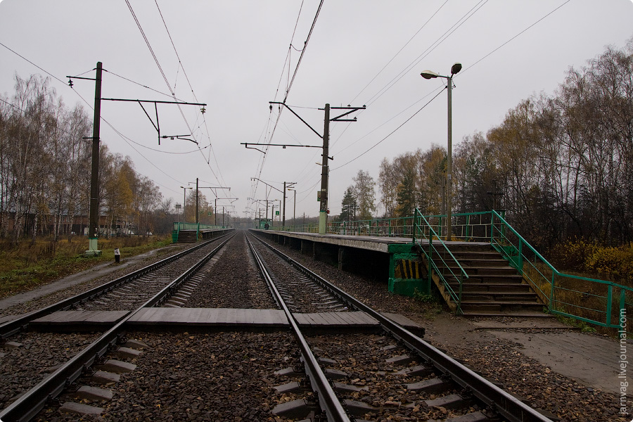 Осень, платформа Родники, Казанское направление МЖД