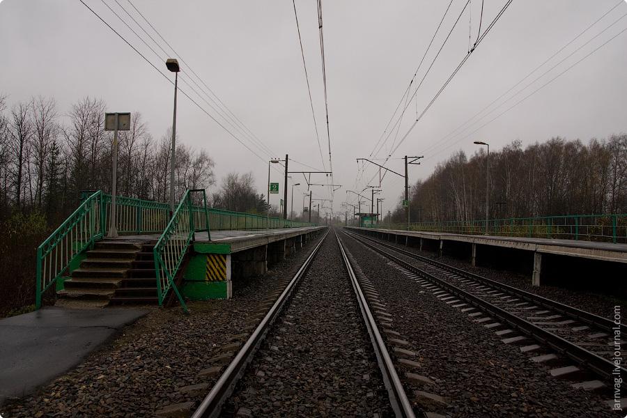 Осень, платформа Хрипань, Казанское направление МЖД
