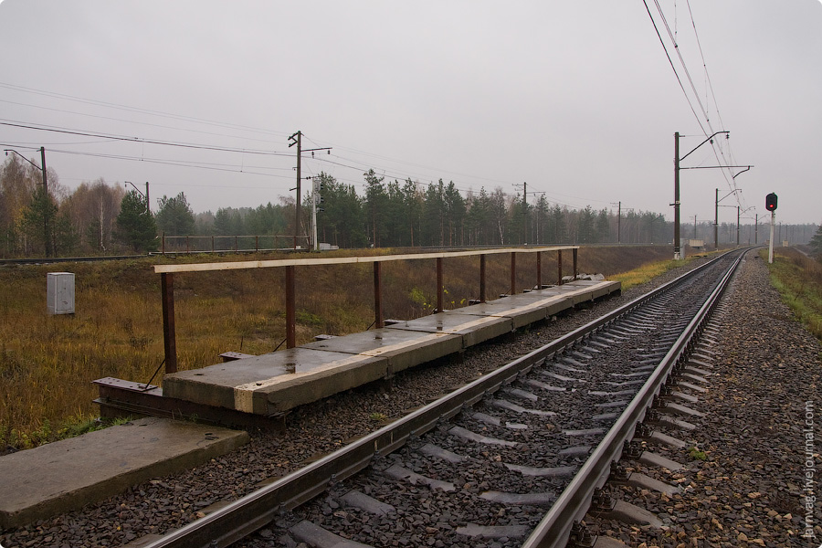 Осень, БМО, участок Поточино - Орехово - Дулево , платформа 185 км.