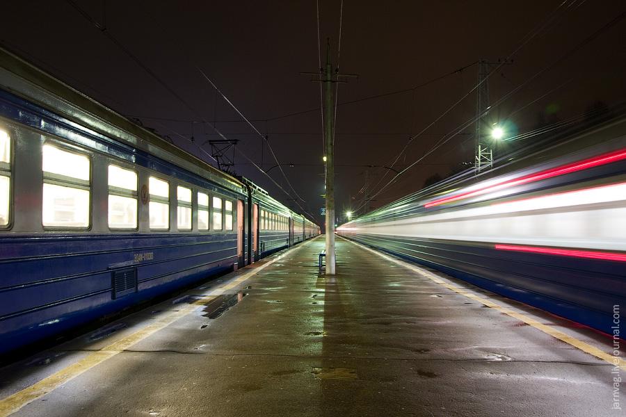 Станция Софрино, ночные фотографии