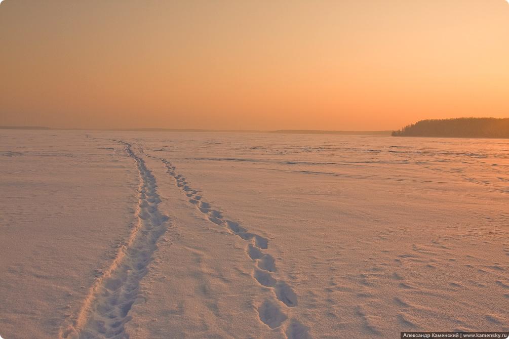 Зима, Пироговское водохранилище, лед на водохранилище, Тишково