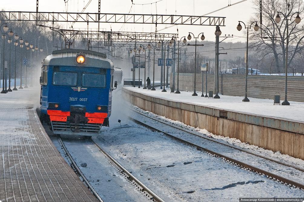 Электропоезд ЭД2Т-0037, платформа Яуза, Ярославское направление