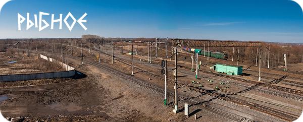 станция Рыбное, Рязанская область, МЖД, линия Узуново - Рыбное, железнодорожная развязка