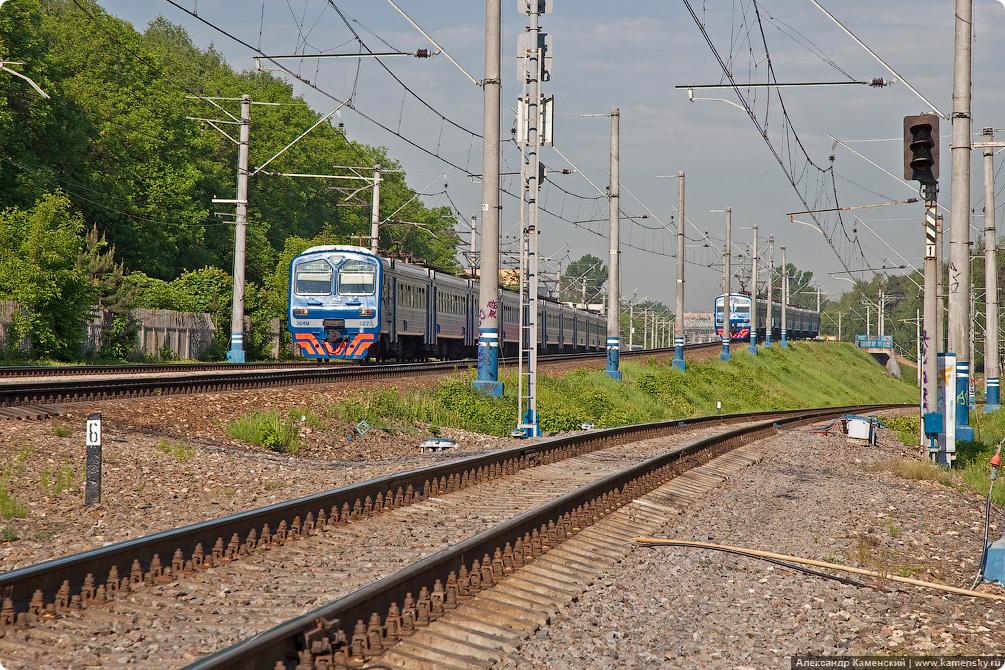 Станция Болшево, фотографии железной дороги, пассажирские платформы, город Королев