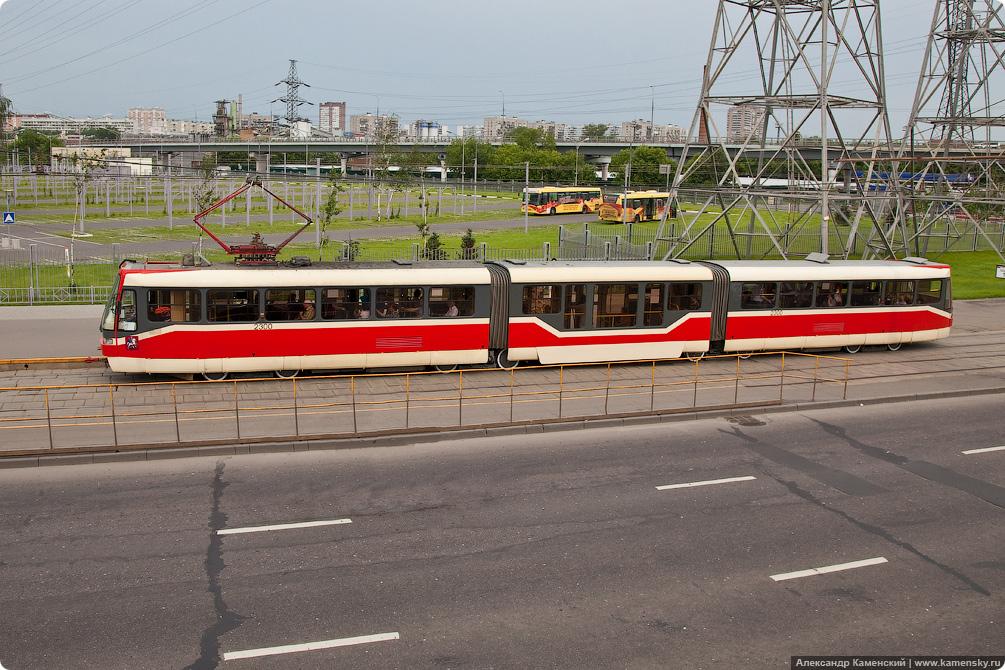 Севернянинский мост, трамвайные пути, Москва, дороги с высоты
