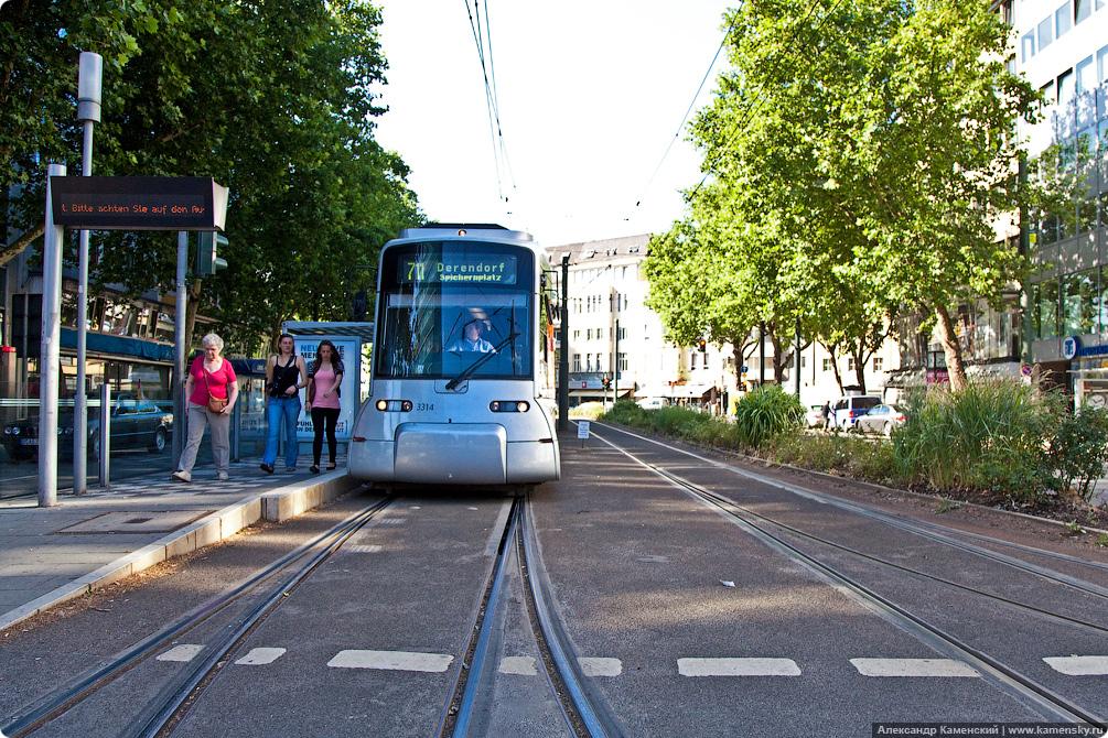 Германия, Вокзал и трамваи Дюссельдорфа, Dusseldorf Hbf, tramway, Germany, DB, bahn.de