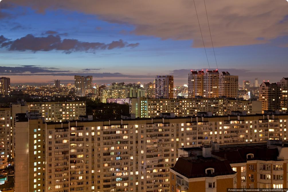Москва, Новые Черемушки, съемка с крыши