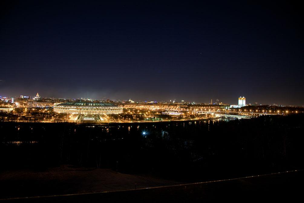 Москва 2011, Час Земли, МГУ, Воробьевы горы