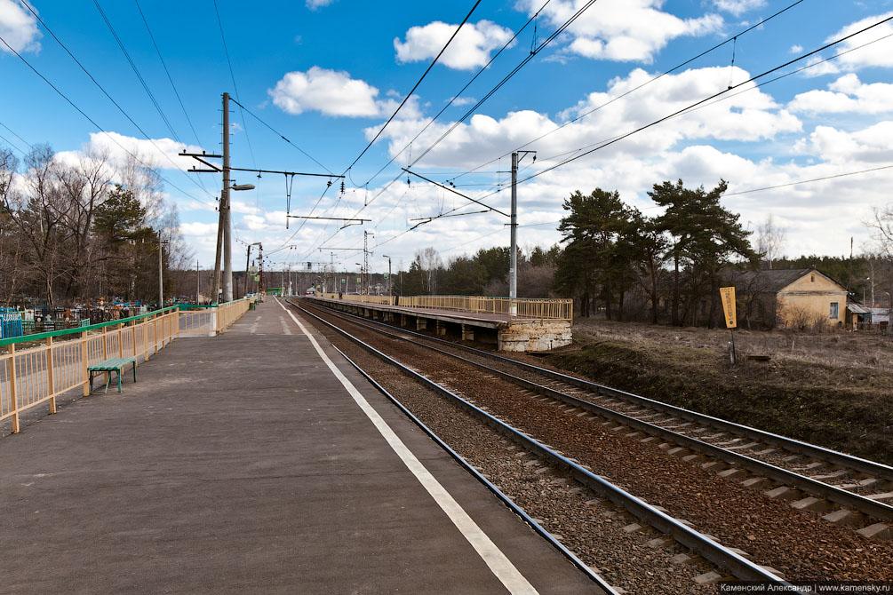 Павелецкое направление, Московская область, платформа АКРИ, платформа Белопесоцкий