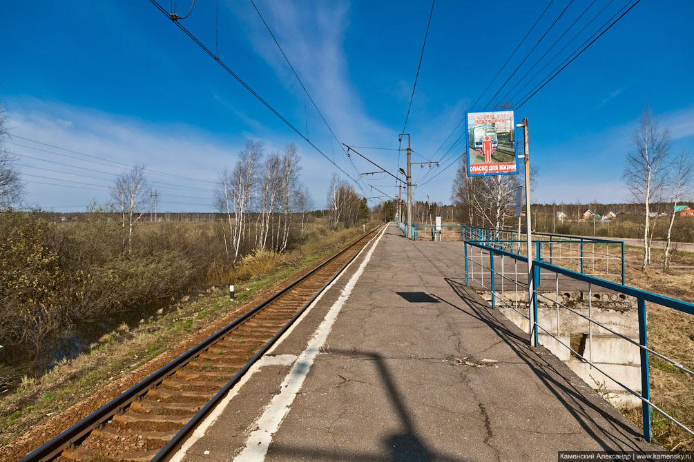 Красноармейская ветка, платформа Федоровское, платформа Путилово, Московская область