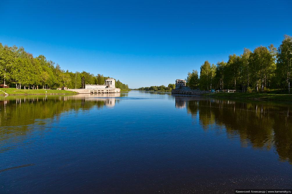 Переправа через канал им. Москвы в Дубне, Московская область