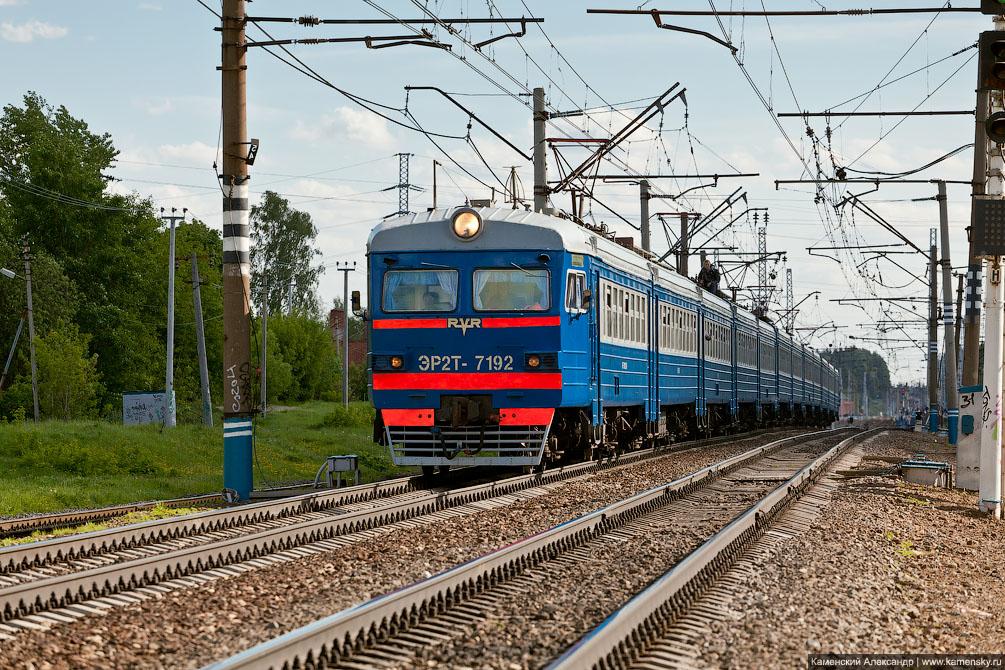 Станция Софрино, Московская область, Электропоезд ЭР2Т-7192