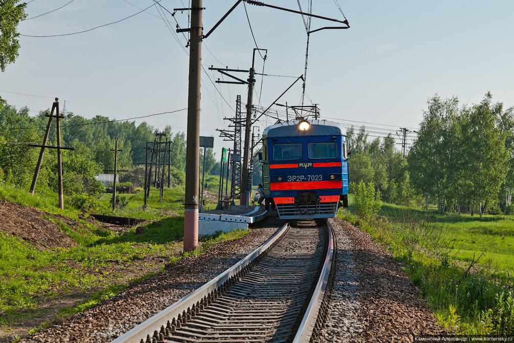 БМО, платформа 109 км, перегон Икша - Белый Раст, ЭР2Р-7009, ЭР2Р-7023