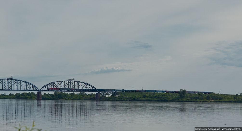 Амурская область, Призейская, пригородное сообщение, Забайкальская железная дорога, мост через Зею