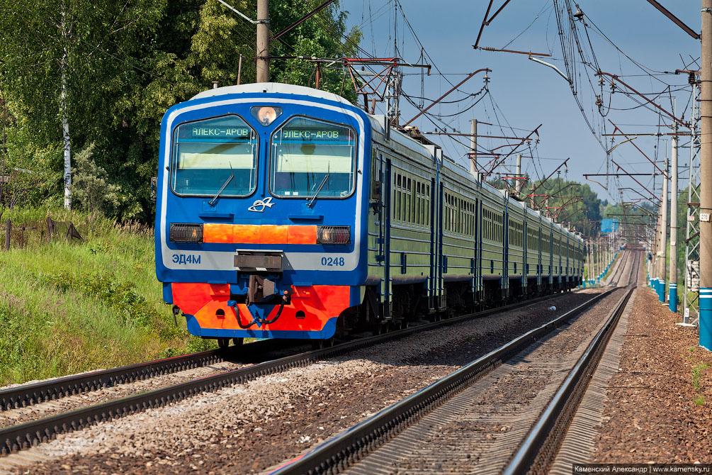 Московская область, Железная дорога, платформа Радонеж, Электропоезд ЭД4М-0248