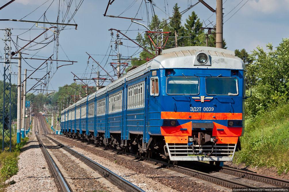 Московская область, Железная дорога, платформа Радонеж, Электропоезд ЭД2Т-0039