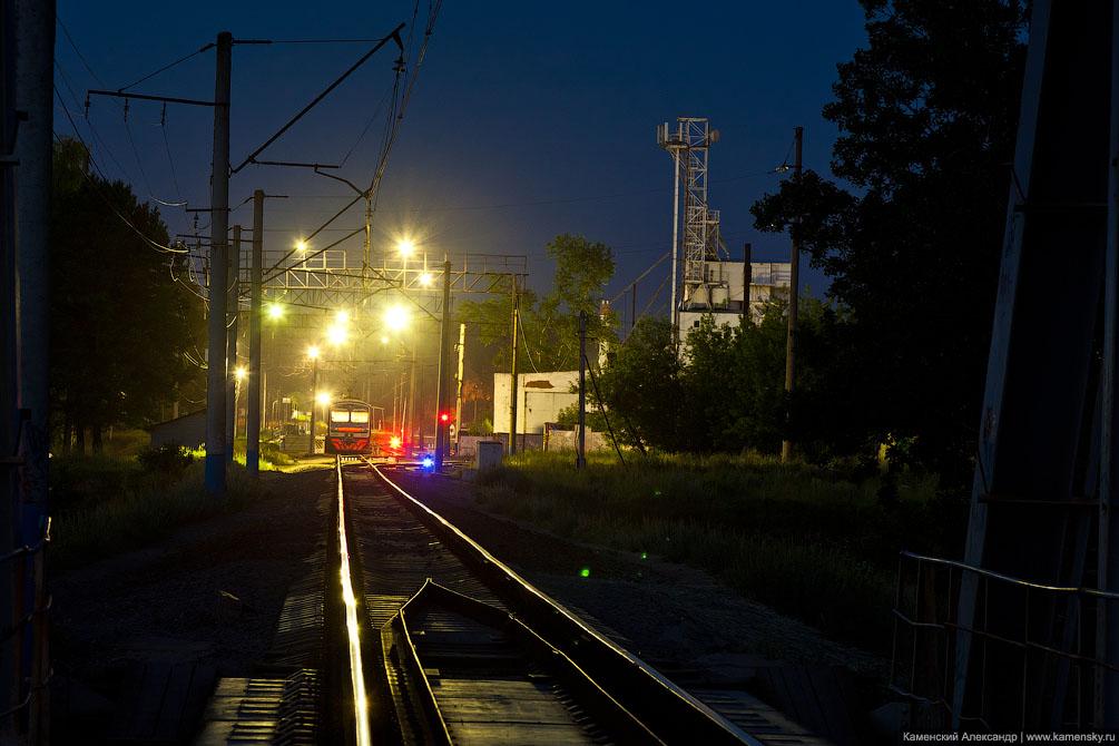 Московская область, Железная дорога, Станция Красноармейск, ночная стоянка электропоезда ЭД4М-0248