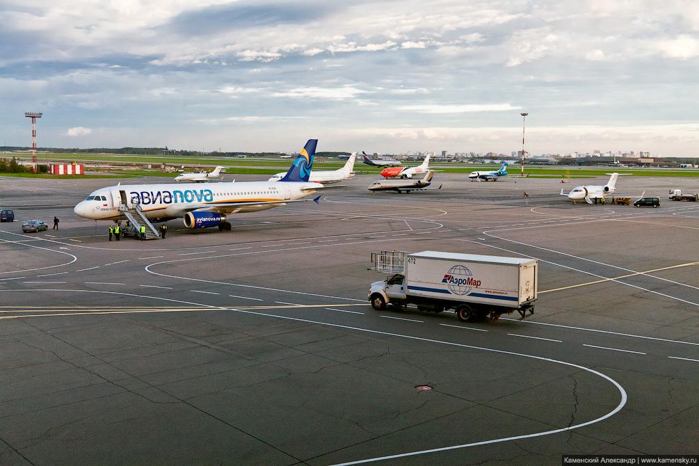 Стоянка самолетов в Шереметьево