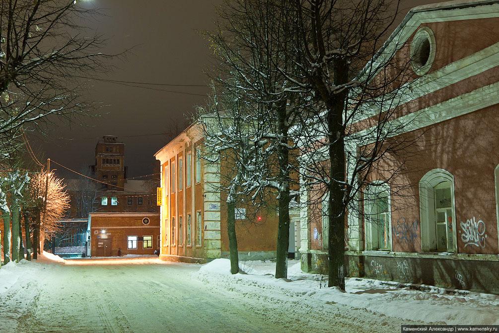 Красноармейск Московской области, ночные фотографии, Улица Свердлова
