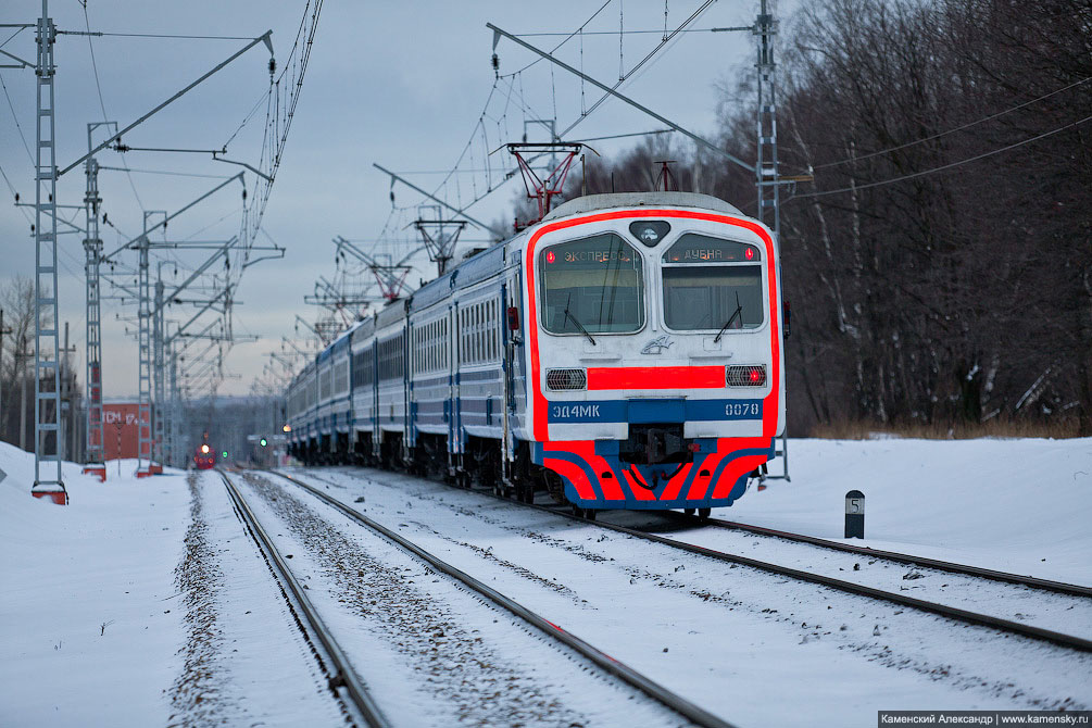 Савёловский ход, платформа Новодачная, ЭД4МК-0078, экспресс Дубна