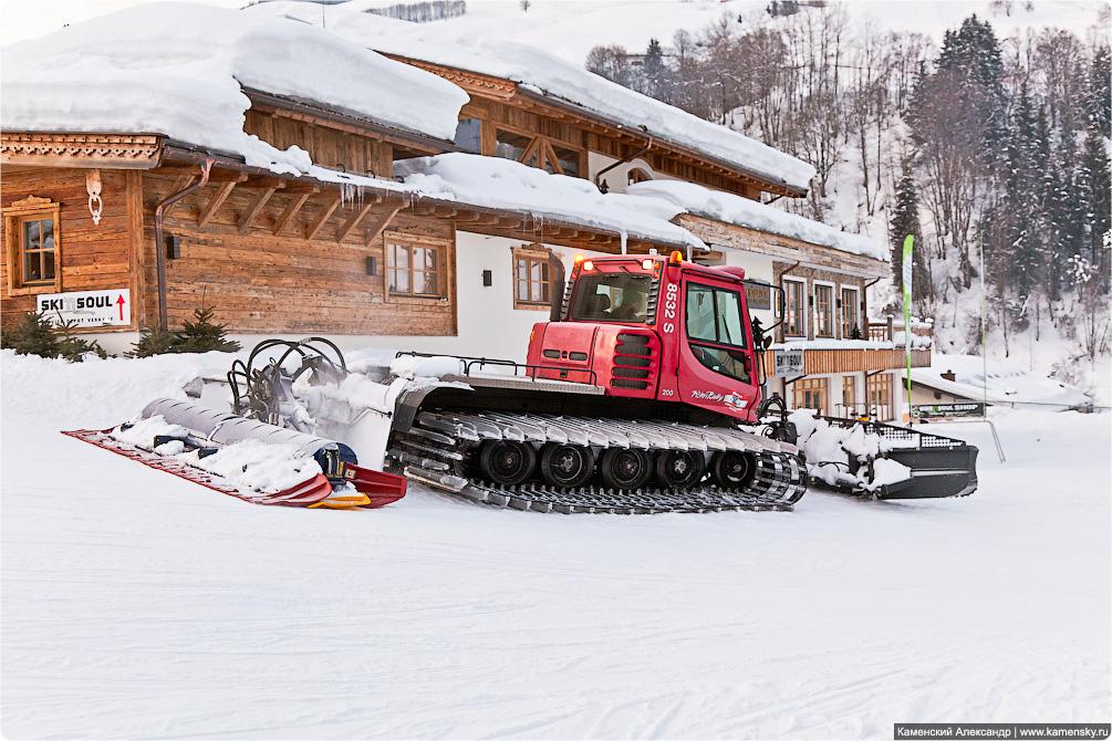 Австрия, Горнолыжный курорт, Как это работает, Зима, Снег, Отдых