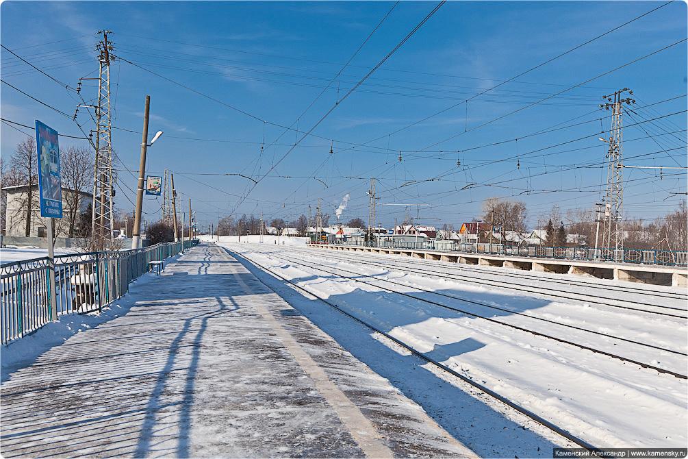 Зима, станция Бужаниново, платформа Федоровское, Ярославское направление