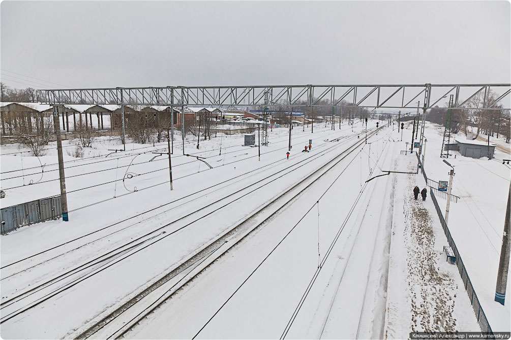 Зимний день, Московская область, Железная дорога, Снегоочиститель, Ярославское направление