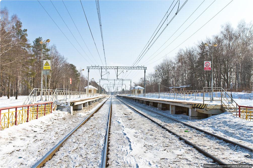 Горьковское направление, платформа Есино