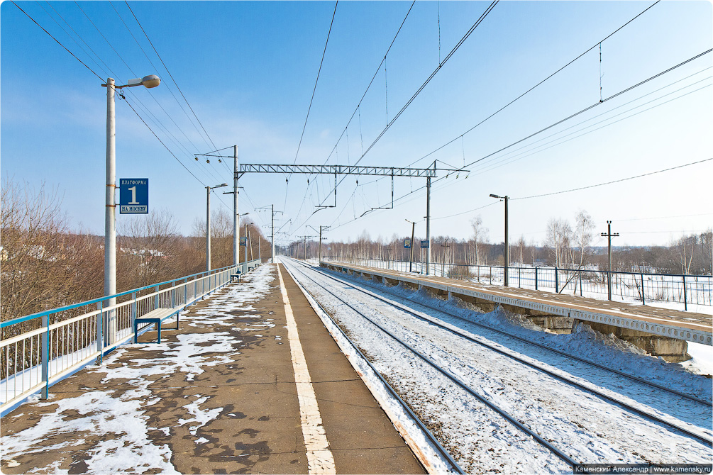 Горьковское направление, Станция Храпуново, платформа Есино, станция Электроугли