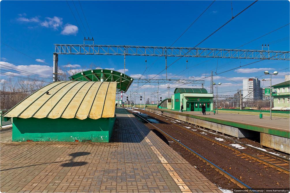 Казанское направление, Выхино, Перово, железная дорога, Москва, электропоезда, платформы