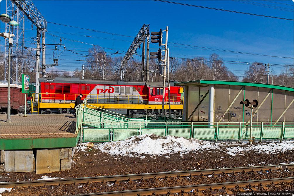 Казанское направление, Выхино, Перово, железная дорога, Москва, электропоезда, платформы.
