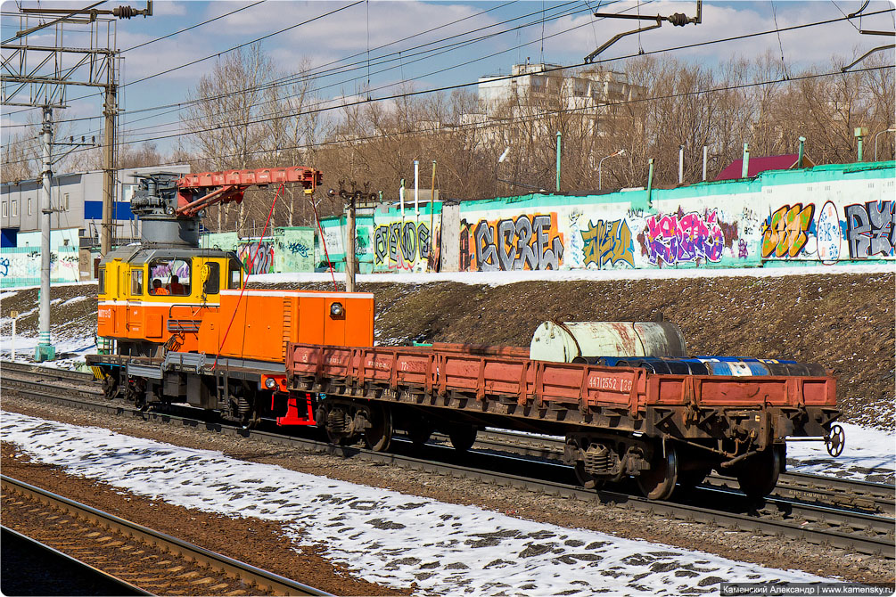 Казанское направление, Выхино, Дрезина МПТ-513, железная дорога