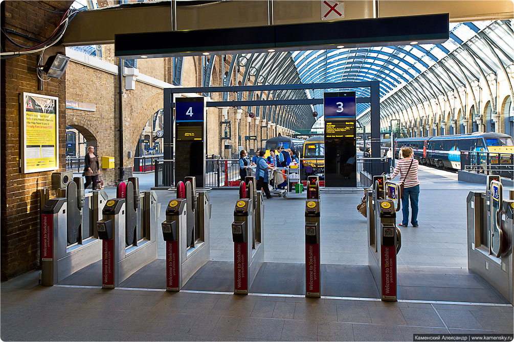 Великобритания, Лондон, вокзал St. Pancras, вокзал King's Cross